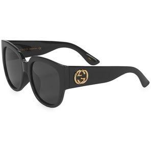 GUCCI • Oversized Black Square Sunglasses • NEW